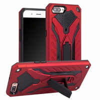 For OPPO A3S A5 F7 F9 F5 A73 F3 A77 Hybrid Armor Silicon Shockproof PC Stand Case For A83 A71 A59 A57 A39 A37 A33 Rugged Fundas