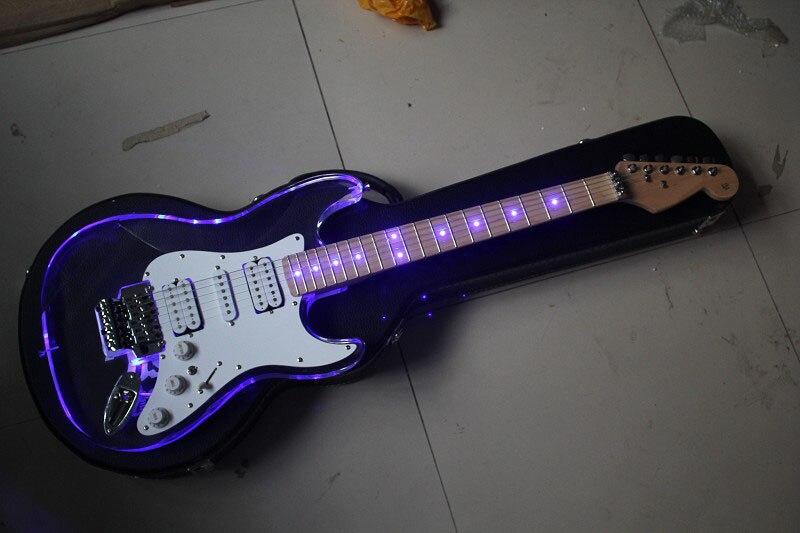 New Acrylic Plexiglass Neck Fretboard Electric Guitar Transparent color Stratocaster models