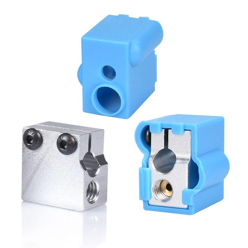 1/2PCS Volcano Silicone   Socks   3D Printer Parts Volcano Heated Block V6 J-head Hotend Bowden/Direct Extruder Reprap Block Cover