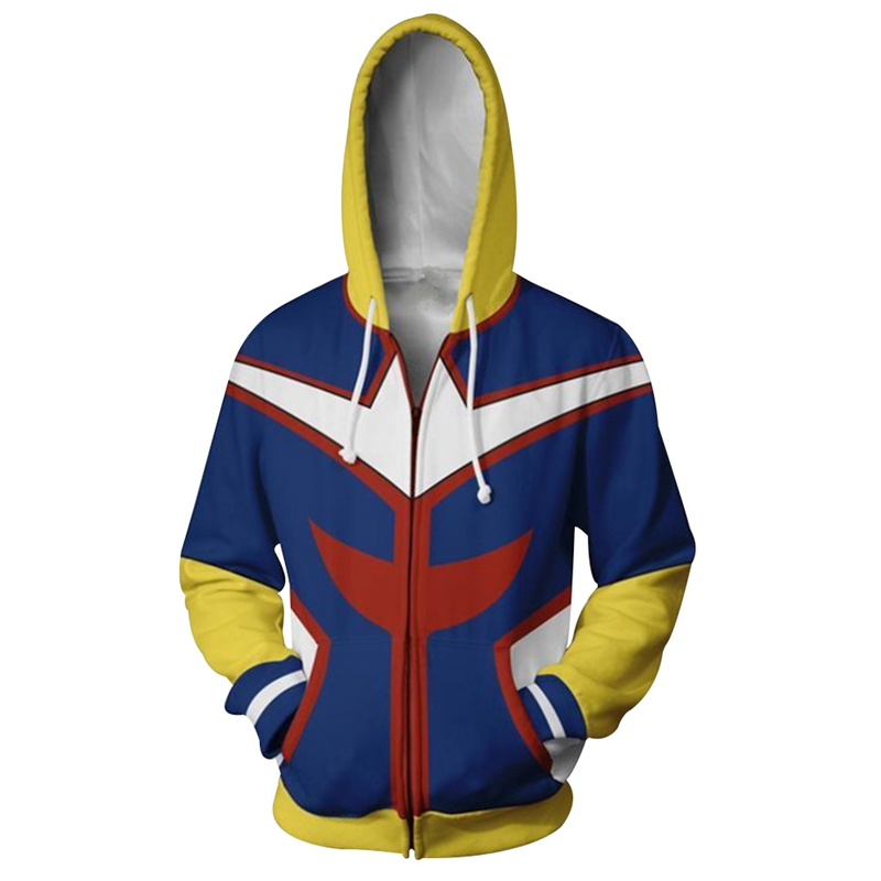 New 3D Printed My Hero Academia Sweatshirts Plus size Uniform Men Hoodies Cosplay Costume College clothing Casual Coat Top