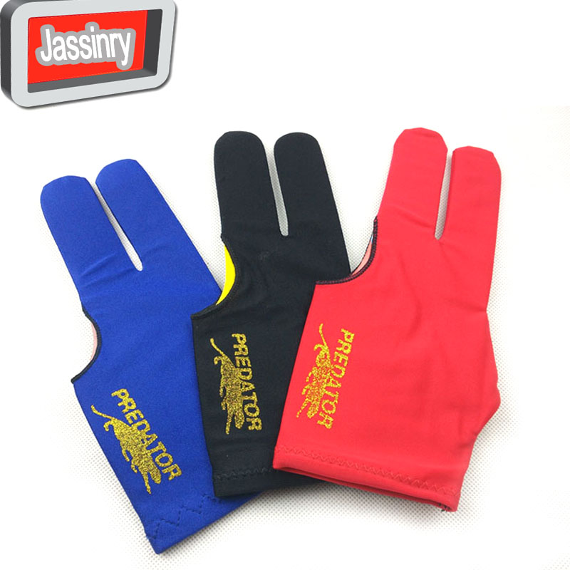 free shipping 30pcs lot Billiards Pool snooker cue Gloves High elastic fabric three finger Gloves Billiards