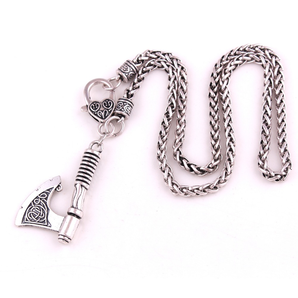 Jewelry & Accessories Necklaces & Pendants Intellective Viking Necklace Wild Bsk Chain Battle Axe Attractive Add Your Male Charm Ornaments Special Design Pattern Provide Dropshipping High Standard In Quality And Hygiene