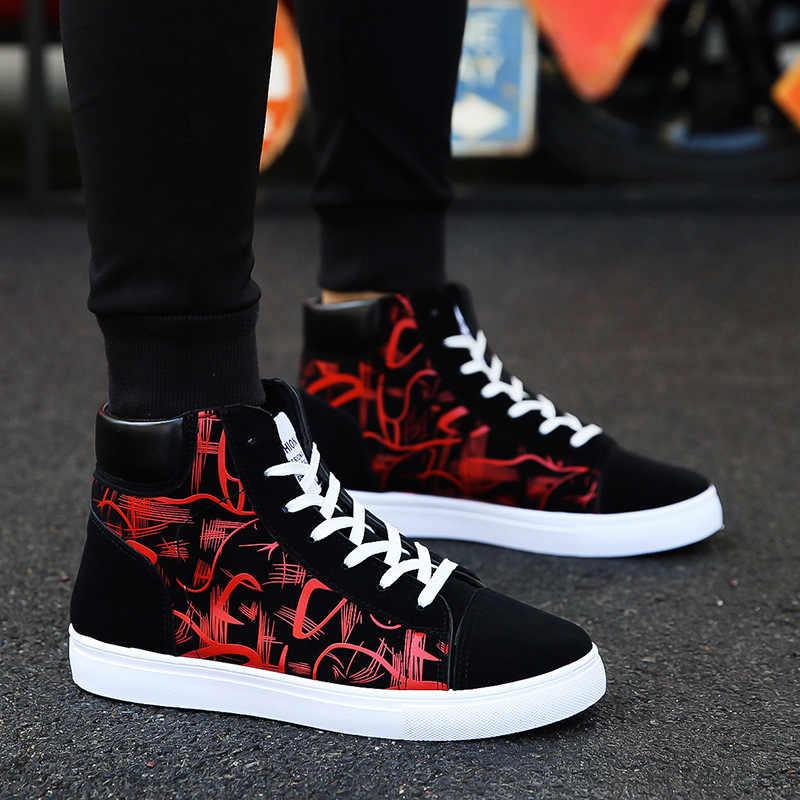 QWEDF  High Quality New 2019 Spring Autumn Casual Shoes Men lace up High Top Fashion Sneakers tenis masculino adulto GA-14