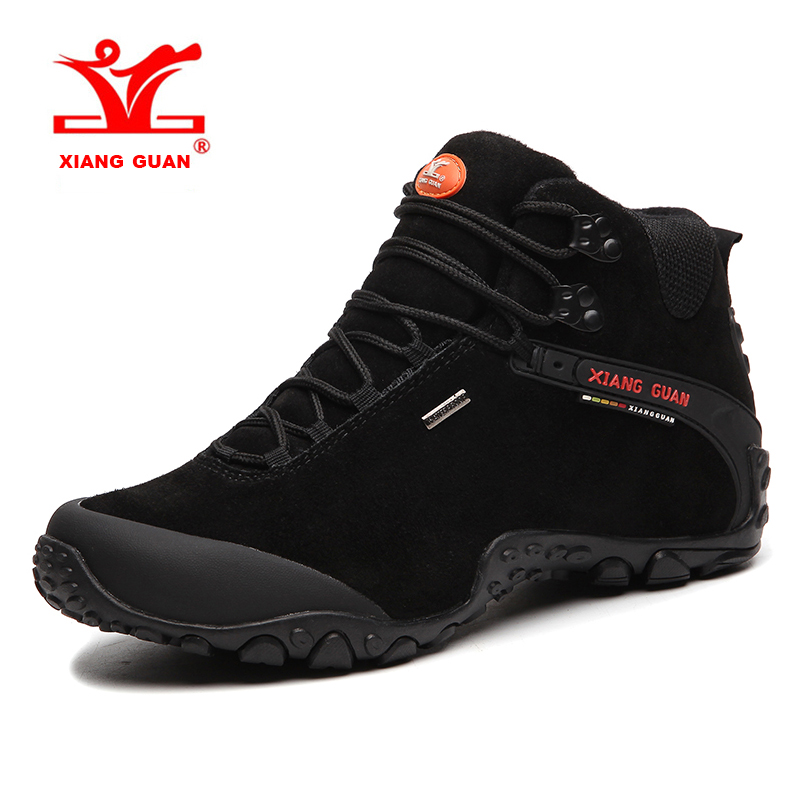 2018 XIANG GUAN Large Size Mens Breathable Hiking Shoes Waterproof Outdoor Sports Shoes Climbing For Men Free Shipping 82287