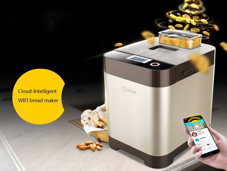 Home DL-T06S-W stainless steel Cloud-Intelligent WIFI bread maker Bread baking machine with remote control