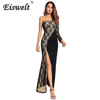 2018 New Fashion Lace Dress Strapless Maxi Woman Party Dresses Elegant Evening Sexy Club Dresses Women
