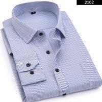 Plus Large Size 8XL 7XL 6XL 5XL 4XL Mens Business Casual Long Sleeved Shirt 0505X