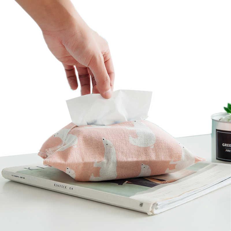 Мультяшный узор коробка для салфеток хлопково-льняной домашний Автомобиль Салфетка бумажный контейнер милая бумага полотенце салфетка тканевый чехол домашний декор