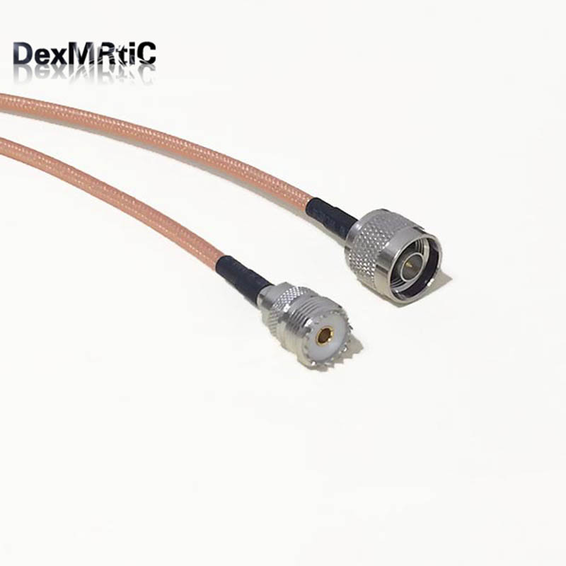 High-quality low-attenuation UHF Female Jack SO239 Switch N Male Plug RF coax cable RG142 50CM 20