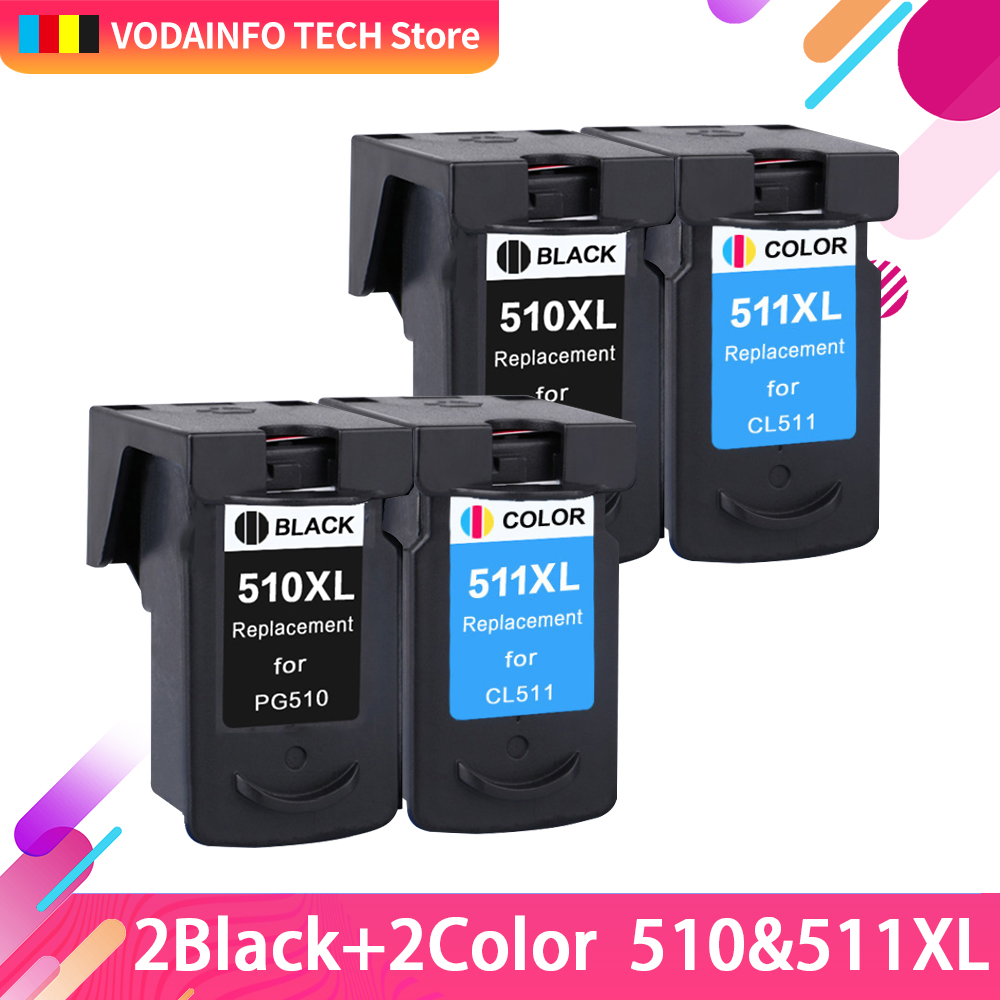 2 sets Compatible Ink Cartridge Replacement for Canon PG 510 CL 511 PG510 CL511 PG 510