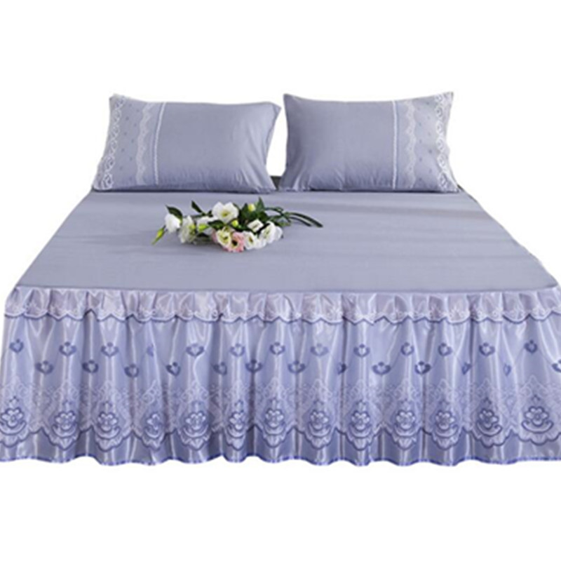 Bedcover cubrecama bedspread bedclothes fashion Cotton bed skirt single princess bed sheet bed skirt 1 8 1 5 2 0m meters in Bed Skirt from Home Garden