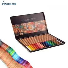 Marco 24/36/48/72/100 professional Oily Color Pencils lapices de colores for Coloured Drawing Pencil Set Art Supplies