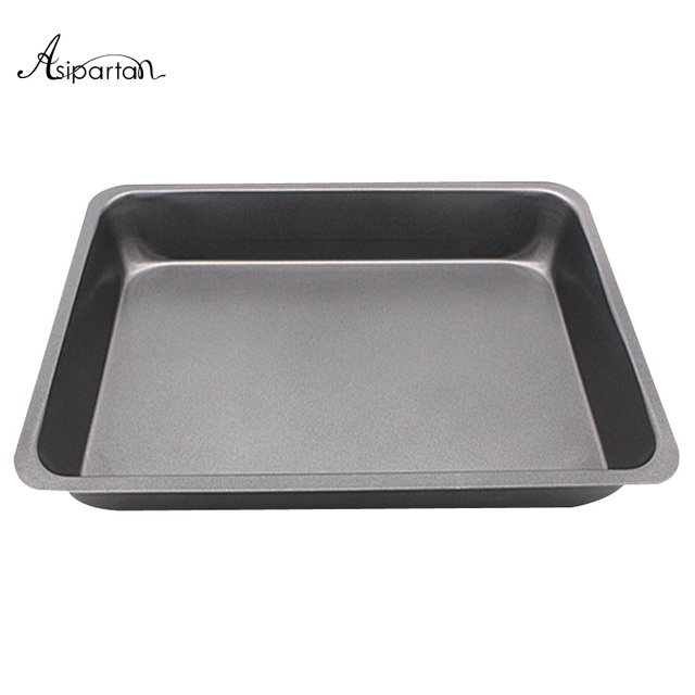 asipartan 10 inch nonstick pizza stones rectangle oven baking pan toast bread cake baking