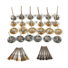 Pen-Cup Wire-Brush Rotary-Tools Wheel-Shaped Polishing-Cleaning Stainless-Steel Brass
