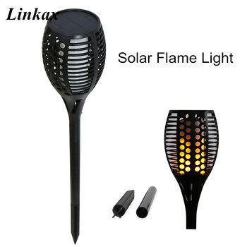 Năng lượng mặt trời Đường Ngọn Đuốc Đèn Chống Thấm Nước Ngọn Lửa Chiếu Sáng 96LED Nhấp Nháy Torch Lights đối Garden/Đại/Sân Deco Nhảy Múa Ngọn Lửa