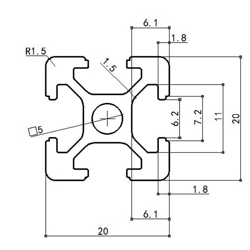 CNC части 3D принтера 4 шт./лот Европейский стандарт анодированный линейный рельс алюминиевый профиль экструзии 2020 для DIY 3D принтера
