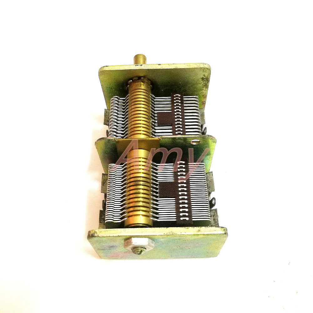 Image 2 - New people made 246 type 2*460PF radio dual variable capacitor-in Capacitors from Electronic Components & Supplies