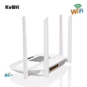 Image 3 - 300Mbps 4G Router Entsperrt 4G LTE CPE Wireless Router Unterstützung SIM Karte 4Pcs Antenne Mit LAN port Unterstützung Bis zu 32 Wifi Benutzer