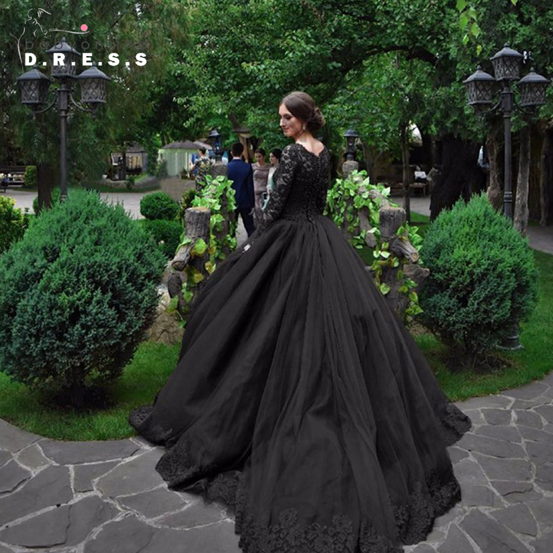 2017 Gothic Wedding Dresses Halloween Victorian Bridal: Popular Victorian Lace Wedding Dress-Buy Cheap Victorian