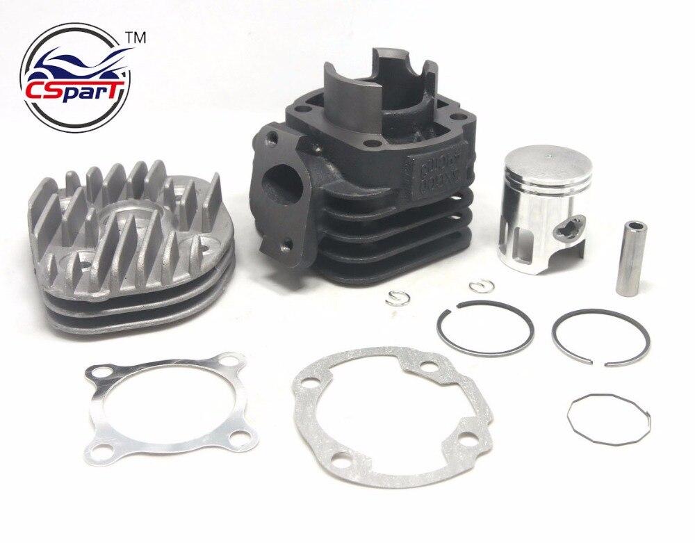 40 MM 10mm 12mm Broches Tête Cylindre Piston Ring Joint Kit pour 50 50CC JOG 1P40QMB Minarelli Zuma BWS AEROX AXE NITRO