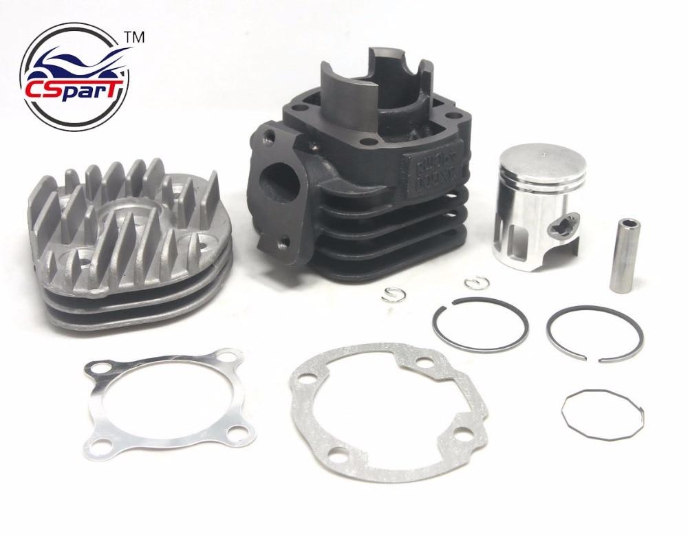 Kit de joint d'anneau de Piston de cylindre de tête de Pin de 40 MM 10mm 12mm pour 50 50CC JOG 1P40QMB Minarelli Zuma BWS AEROX AXIS NITRO