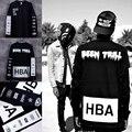 Новый 2015 мужская Гуд По Воздуху С Длинным Рукавом Футболки Man Посетили Трель HBA Хип-Хоп футболки Печатных футболки Мужчины Camisetas Clothing