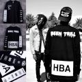 New 2015 Men's Hood By Air Long Sleeve Tee Shirts Man HBA Hip Hop t-shirts Been Trill Printed tshirts Men Camisetas Clothing