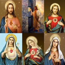 5D Diy Diamond Painting Christian Icon Embroidery Catholic Sacred Heart Immanuel LUOVIZEM L166