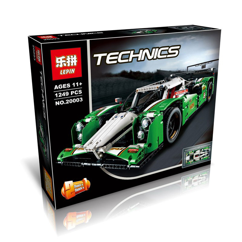 1249Pcs LEPIN 20003 Technic Series 24 Hours Race Car Model Building Kit Blocks Brick Set Toys Vehicles Compatible Legoed 42039 china brand 3364 educational toys for children diy building blocks 42039 technic 24 hours race car compatible with lego