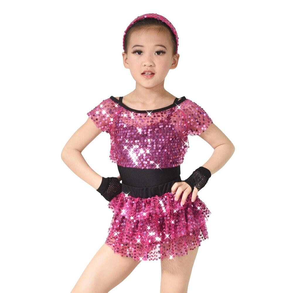 ღ ღLentejuelas Tap Dance ropa niños Jazz Dance trajes vestidos de ...