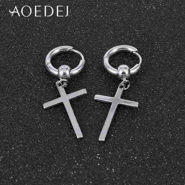 Женские и мужские серьги кольца из нержавеющей стали aoedej