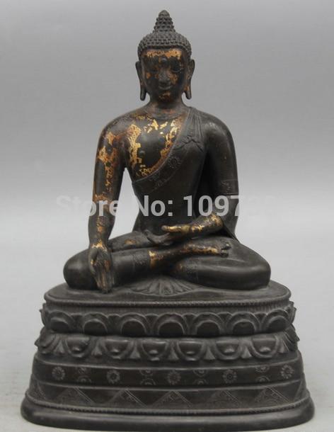 002743 8 Old Tibet Buddhism Bronze 24K Gold Seat Shakyamuni Amitabha Buddha Statue002743 8 Old Tibet Buddhism Bronze 24K Gold Seat Shakyamuni Amitabha Buddha Statue