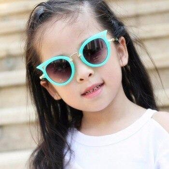 Children Sunglasses For Girls Brand Cat's Eye Children Glasses Shoes For Boys UV400 Lens Children's Sun Protection Glass #271719