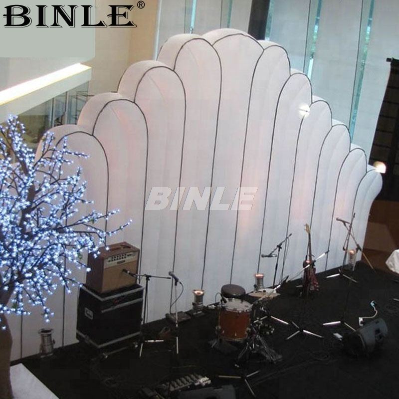 3mLong Commercial Lighting Rental Scallop Inflatable Led