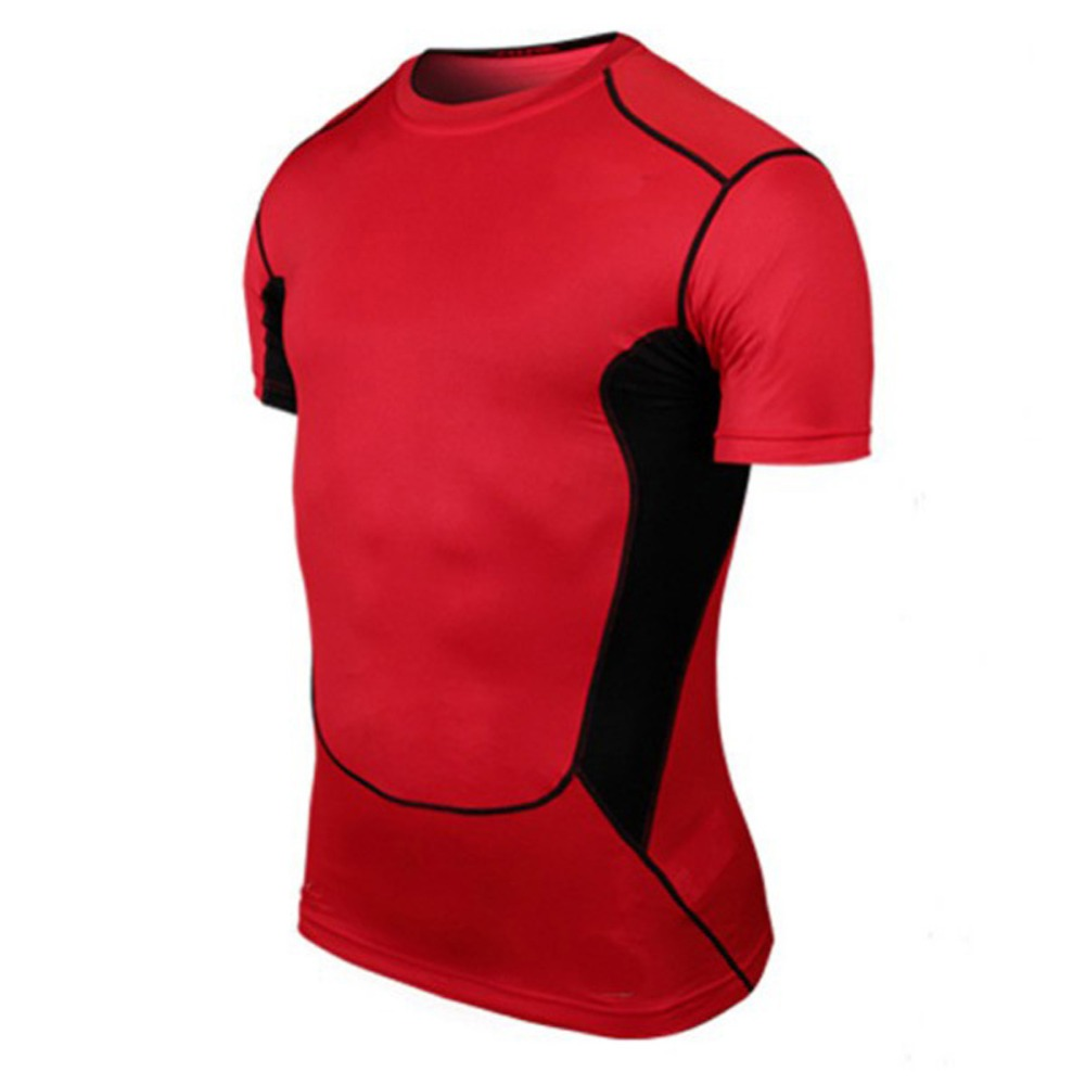 Faithful Wholesale Men Basketball Tight Sportswear Short Sleeve Jersey New Material Pro Breathable Quick-drying Base Compression Shirt Goods Of Every Description Are Available