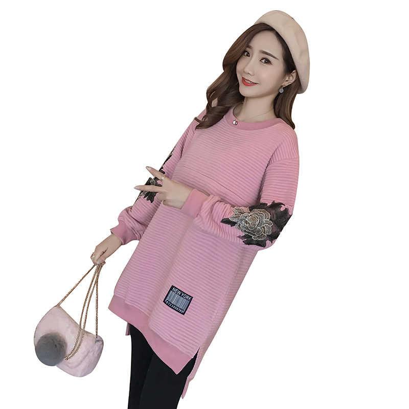 ... Мам  Одежда для беременных кормящих топы для беременных Для женщин  Грудное вскармливание толстовки свитер для ... 3c828ca7f23