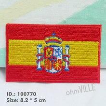 Испанский флаг патч армии нашивки Strijk аппликаторы для одежды гарантия качества Parche Ropa с украшением на выбор 100770