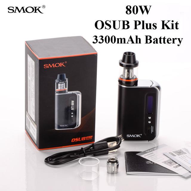 Cigarro eletrônico vape caixa mod smok osub plus kit 80 w 3300 mah bateria Construído em Caneta Vaporizador E Hookah Shisha Tanque Brit X1032