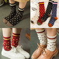 Feitong Lovely Polka Dot Cotton Socks Vintage Fashion Multi-Color Women's Autumn Winter Warm Socks calcetines mujer