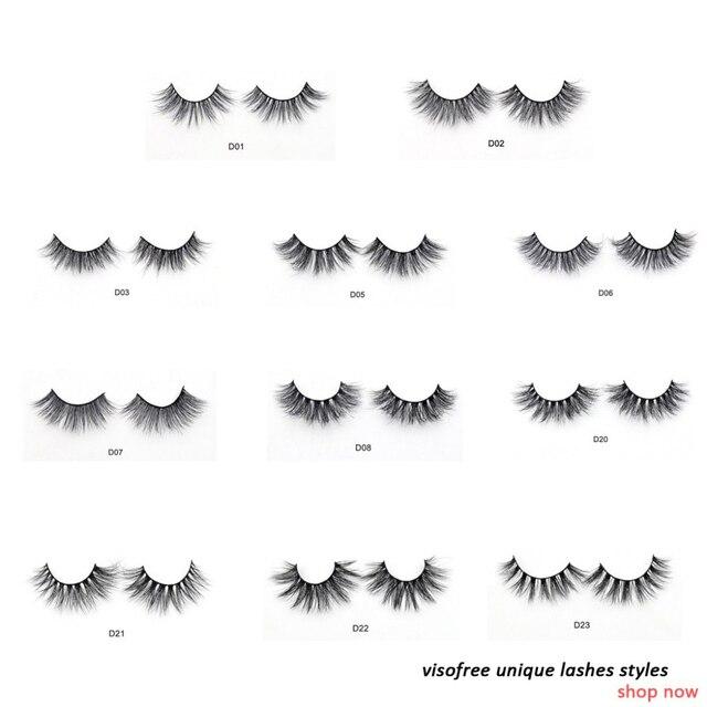 Visofree Eyelashes 3D Mink Lashes Luxury Hand Made Mink Eyelashes Medium Volume Cruelty Free Mink False Eyelashes Upper Lashes