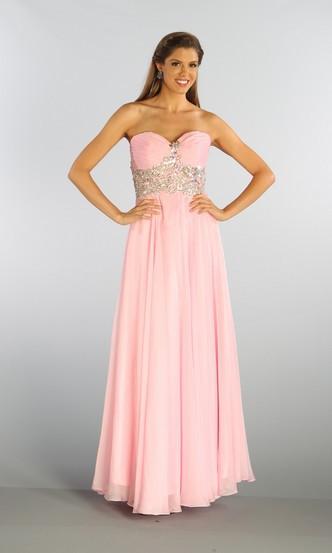 2018 new hot elegant custom sweetheart beading chiffon vestidos long formal gown pink chiffon Homecoming   bridesmaid     dresses