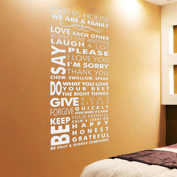 Vinilos Paredes 2015 Hot!art Lettering Waterproof Wall Stickers ...