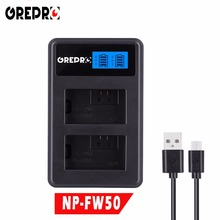 GREPRO LCD USB Dual Camera Battery Charger for SONY FW50 NP FW50 NP-FW50 NEX-3 NEX-5 NEX-6 SLT-A55 A33 A55 A37 A3000 A5000 A6000 аккумулятор fujimi fbnp fw50 схожий с sony np fw50 1001