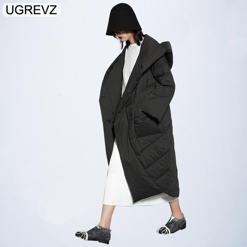 Kadın Giyim'ten Parkalar'de 2018 Bayan Parka Kış Kapşonlu Yeni Marka Sıcak Kış Ceket Kadın Artı Boyutu Uzun Kadınsı Kış Ceket pamuklu giysiler Siyah'da  Grup 1