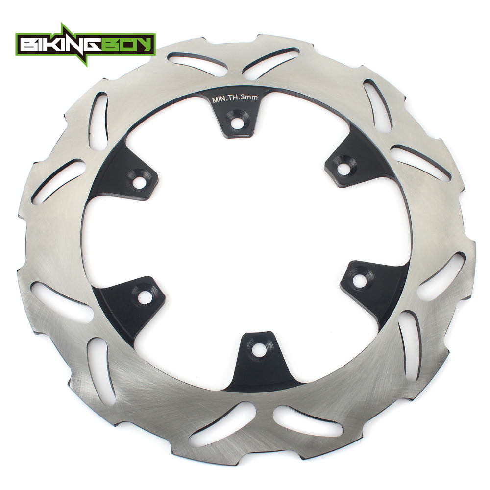 BIKINGBOY Rear Brake Disc Rotor Disk for Kawasaki KX 125 250 89-02 KDX 200 220 KX500 89-04 90 KLX 300 650 R 97 98 99 00 01 02 03BIKINGBOY Rear Brake Disc Rotor Disk for Kawasaki KX 125 250 89-02 KDX 200 220 KX500 89-04 90 KLX 300 650 R 97 98 99 00 01 02 03