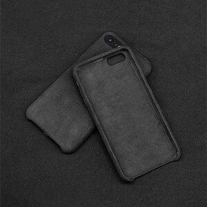 Image 2 - 케이스 아이폰 7 8 플러스 x xs 맥스 xr 럭셔리 이탈리아 스웨이드 패브릭 커버처럼 downy leather capa 프리미엄 쉘 쉘