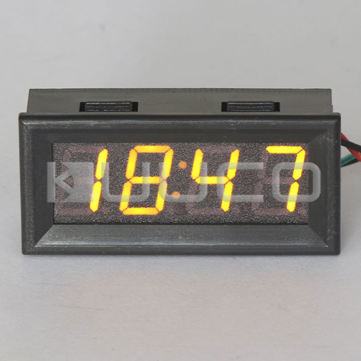 24-hour Digital Clock Yellow Led display Car Clock/Digital Meter/Panel Meter Adjustable Clock DC 12V 24V DIY Time Monitor/Tester digital tester 3in1 multifunction temperature humidity time lcd display monitor meter for car indoor outdoor greenhouse etc