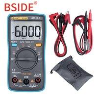 BSIDE Тип RMS цифровой мультиметр ZT101 Многофункциональный AC/DC напряжение тока Сопротивление измеритель емкости и частоты