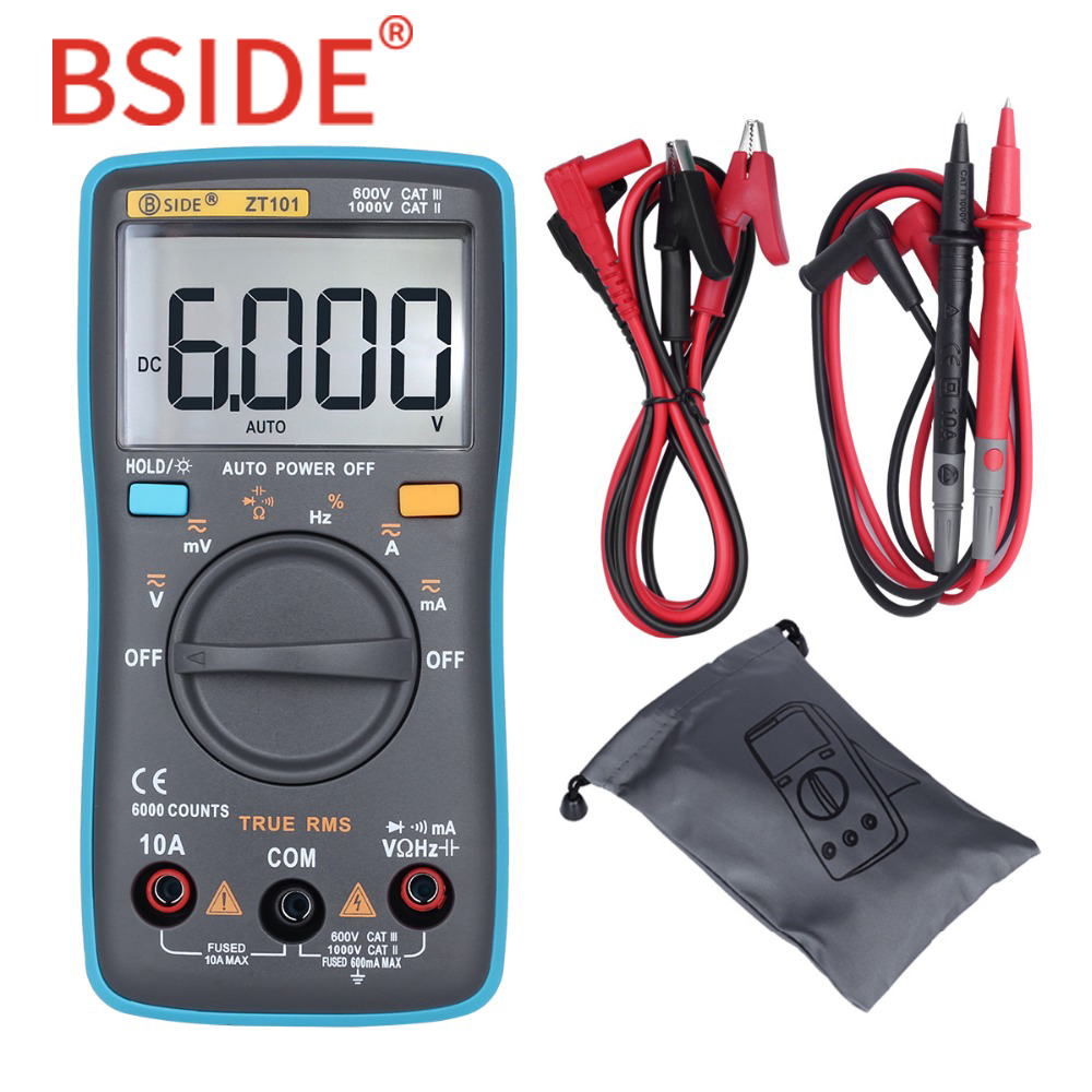 все цены на BSIDE Ture RMS Digital Multimeter ZT101 Multifunction AC/DC Voltage Current Resistance Capacitance Frequency Tester