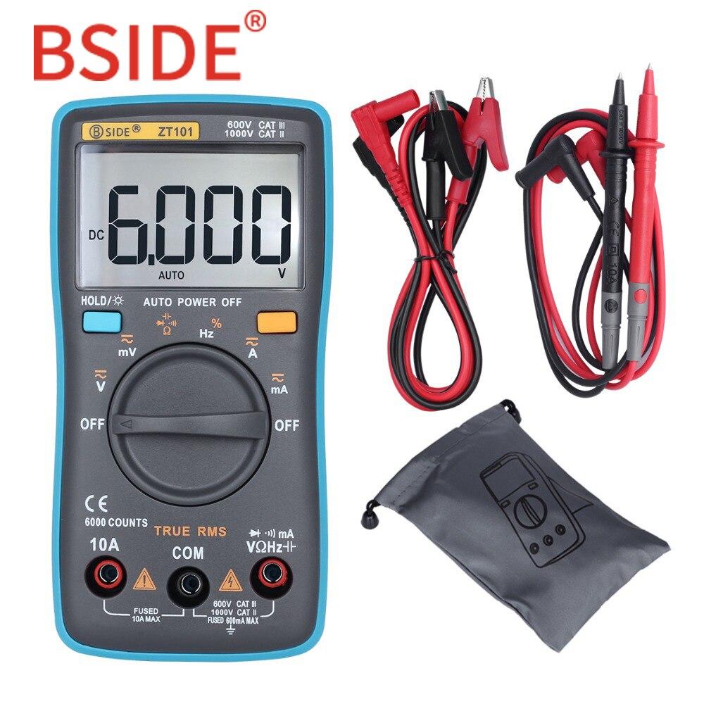 BSIDE Ture RMS multimètre digital ZT101 Multifonction AC/DC Tension Courant Résistance Capacité instrument de mesure de fréquences